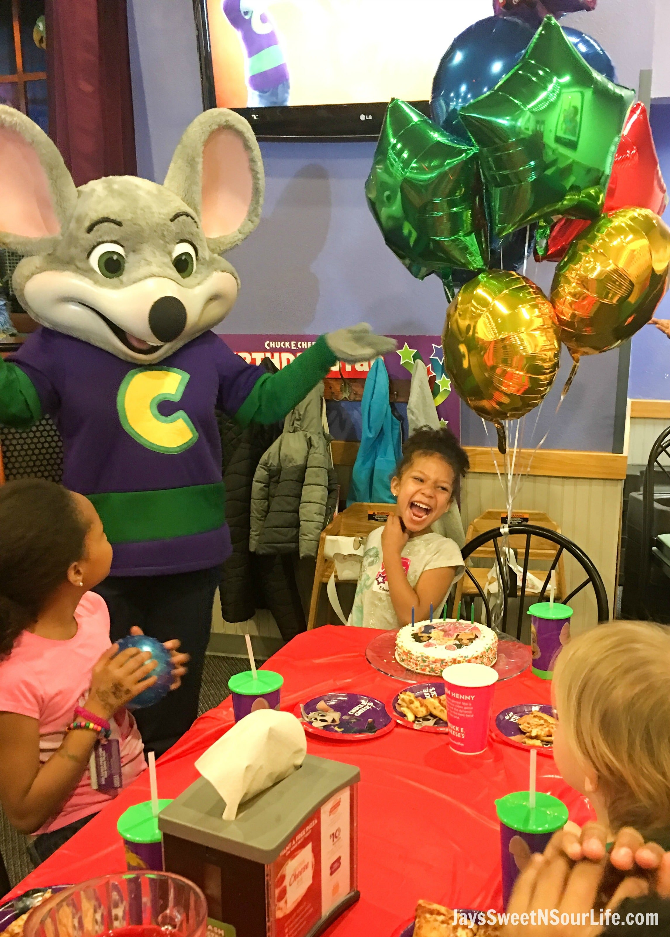 They also get recognition in the Chuck E. birthday show, and a chance at the Golden Ticket in the Ticket Blaster, which is worth 1, tickets. We had Emmitt's 5th birthday party at the Orlando, FL Chuck E. Cheese. My expectations of the party were greatly surpassed.