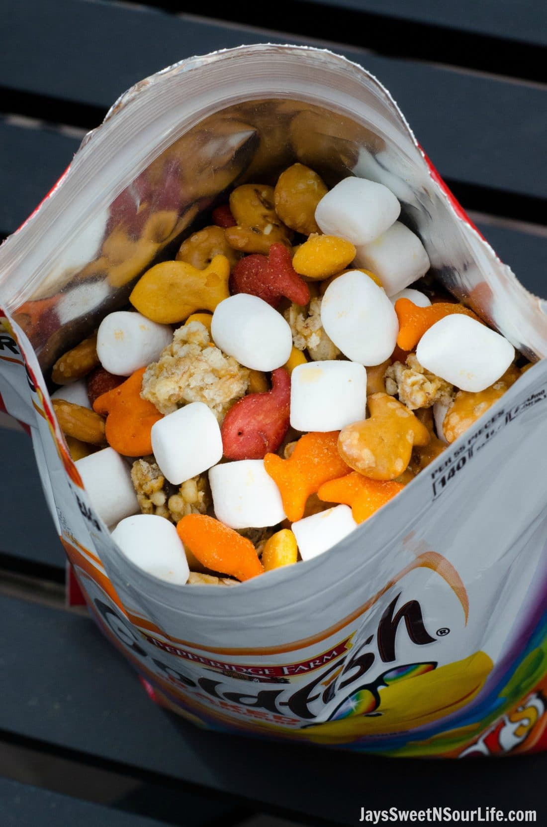 Keep your Goldfish Trail Mix fresh by repurposing the Resealable Bag they are now sold in. Save time and money by keeping your trail mix fresh and on the go friendly.