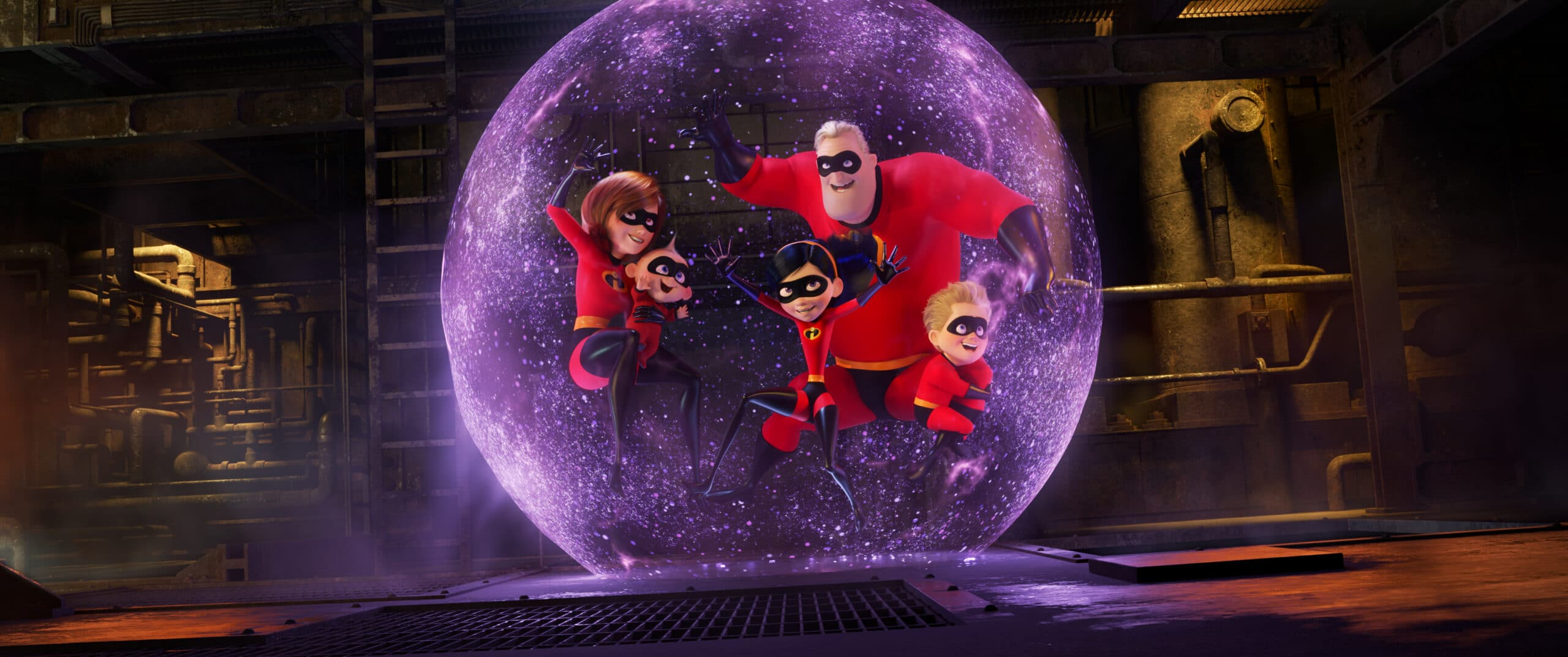 In the midst of battling the Underminer villain, Violet protects her family by throwing one of her most super force fields yet. Disney•Pixar's INCREDIBLES 2 that opens in theatres everywhere June 15th!