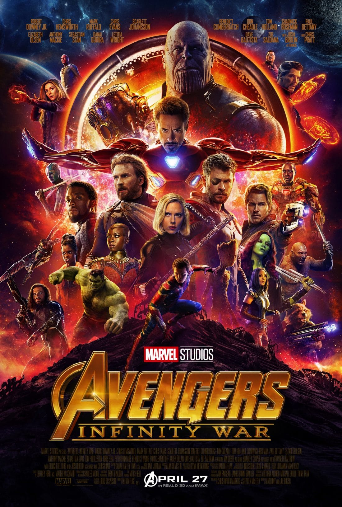 The adventure continues in the newest edition to the Mavrel film series. Avengers Infinity War Movie is set to releaser April 27th 2018.