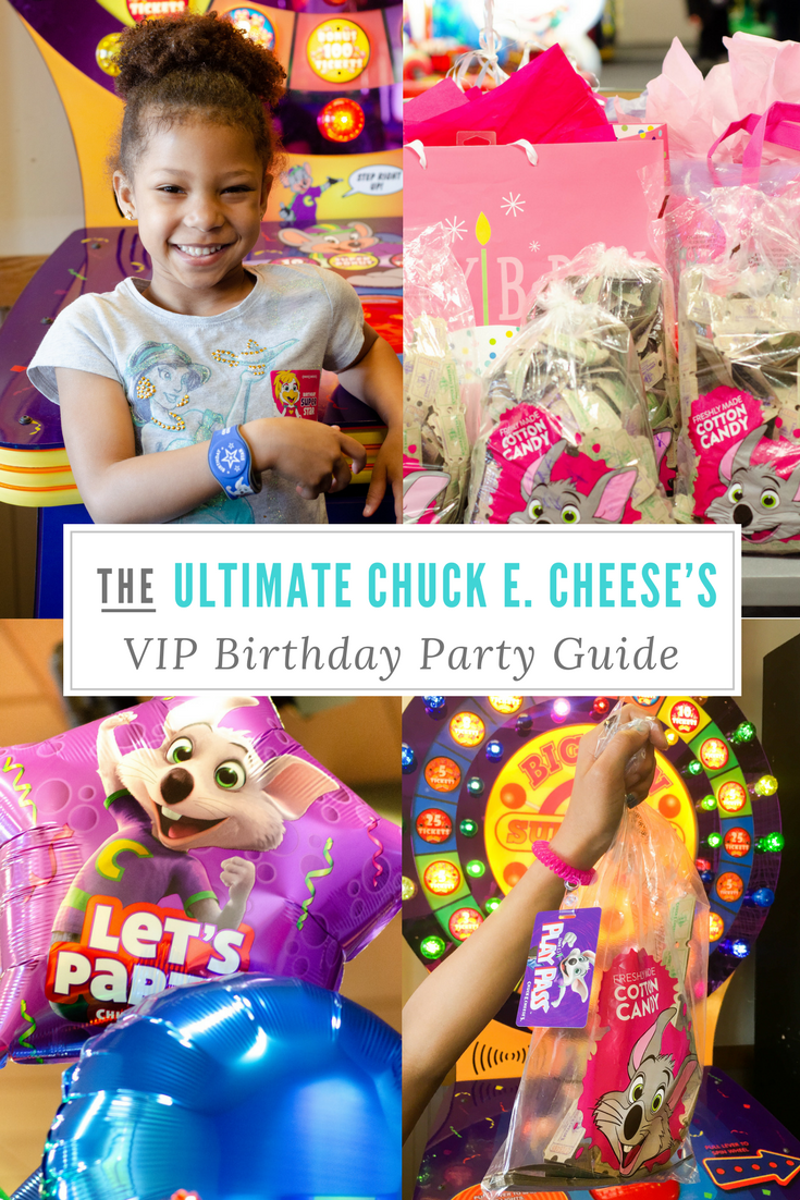 The Ultimate Chuck E. Cheese's VIP Birthday Party Guide. \Book your party today and have guests enjoy 2 hours of unlimited game play.