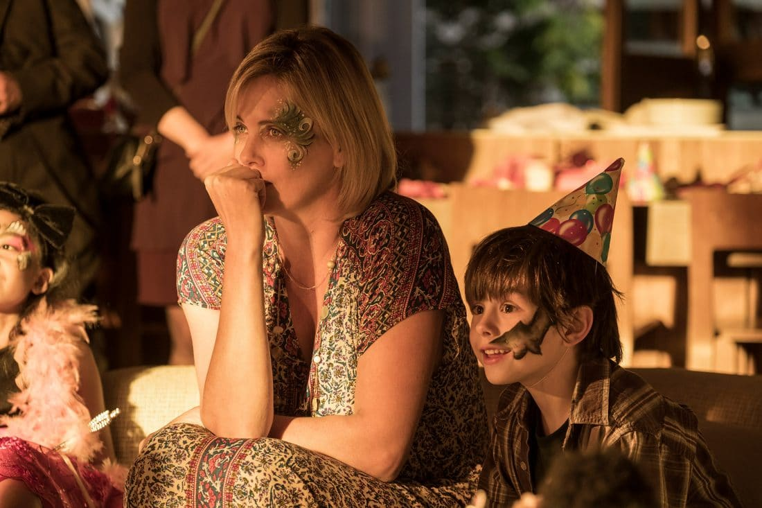 The mother and son in the new film from Focus Feature named Tully. A mother of three including a newborn, is gifted a night nanny by her brother. Hesitant to the extravagance at first, Marlo comes to form a unique bond a young nanny named Tully. In theaters everywhere May 4,2018.