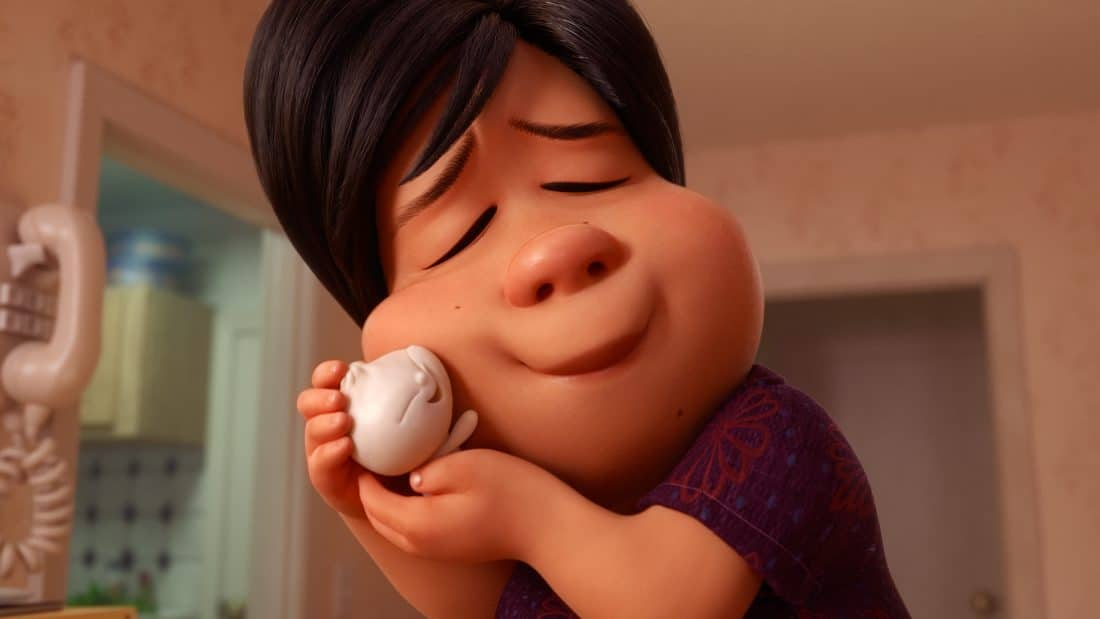 "In Disney•Pixar's all-new short ""Bao,"" an aging Chinese mom suffering from empty-nest syndrome welcomes another chance at motherhood when one of her dumplings springs to life as a lively, giggly dumpling boy. ""Bao"" opens in theaters on June 15, 2018, in front of ""Incredibles 2."" ©2018 Disney•Pixar. All Rights Reserved."