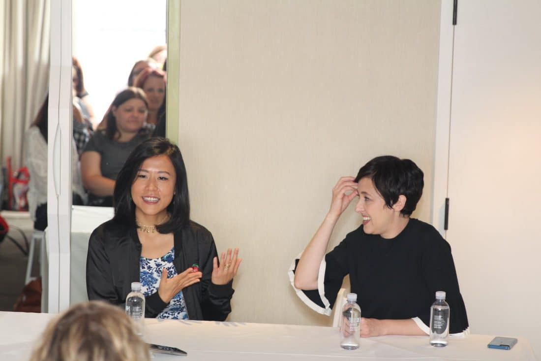"""""""Bao"""" Director Domee Shi & Producer Becky Neiman Post answering questions at interview with bloggers. Directed by Domee Shi, Bao"""" opens in theaters on June 15, 2018, in front of """"Incredibles 2."""""""