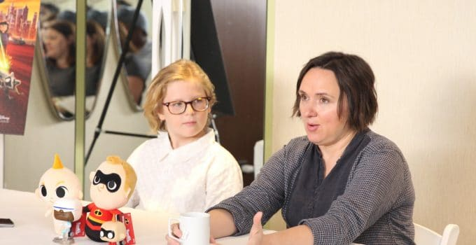 Incredibles 2 Interview with Sarah Vowell & Huck Milner | Dash and Violet Parr Tell All