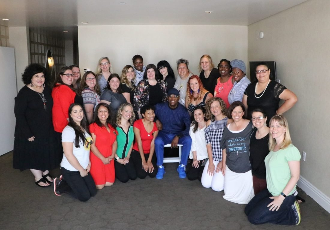 Group Photo with Samuel L. Jackson during hte Incredibles2Event Press Junket. The Incredibles 2 film will be in theaters everywhere June 15th.