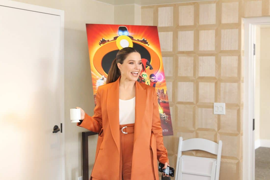 . Incredibles 2 Interview with Sophia Bush Voice of Voyd Standing. Disney Pixars Incredibles 2 film is in theaters everywhere today.