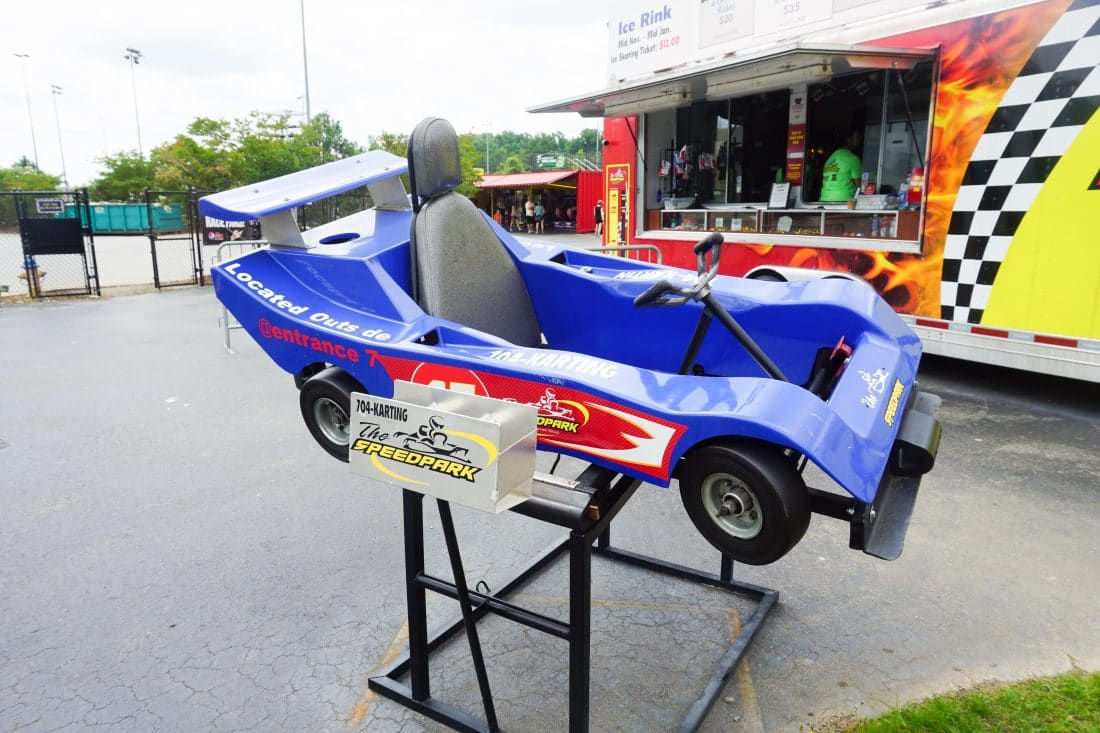 SpeedPark - Visit Cabarrus County Entrance Go-Kart. A Large Families Adventure Guide To Cabarrus County - North Carolina - via JaysSweetNSourLife.com.
