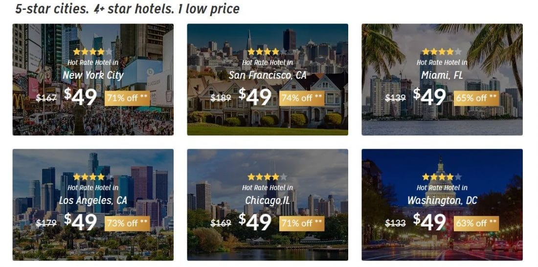 Hotwire $49 Promotion Screen Shot Live. Hotwire $49 Promotion Screen Shot Live Hotwire is offering luxury 4 and 5-star hotels for just $49 is truly an incredible deal which won't last long, so travelers need to act fast to feel the Hotwire Effect.