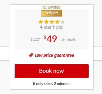 Hotwire $49 Promotional Sale. Hotwire is offering luxury 4 and 5-star hotels for just $49 is truly an incredible deal which won't last long, so travelers need to act fast to feel the Hotwire Effect.
