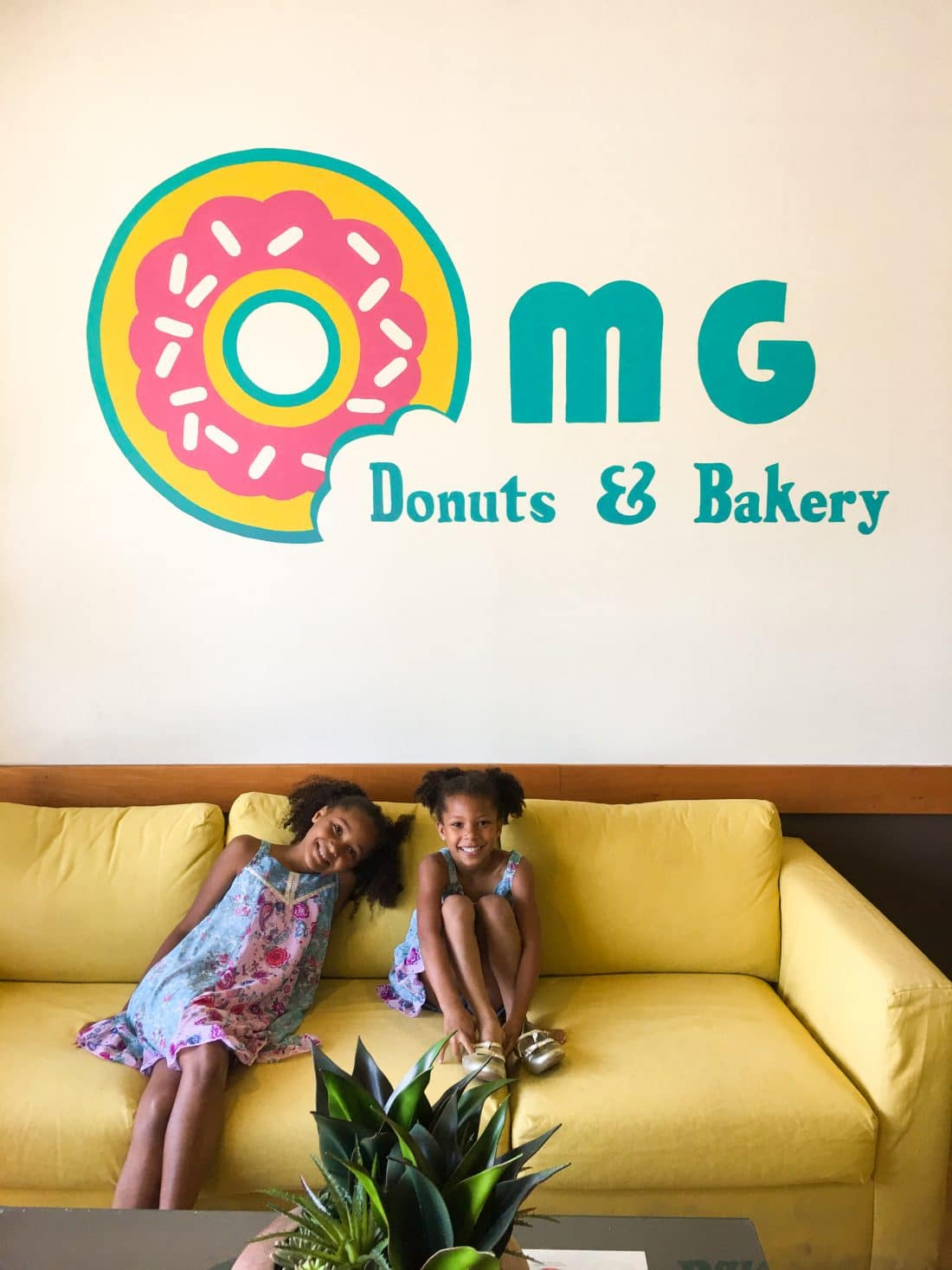 OMG Donuts and Bakery Wall Art Girls Smiling. OMG Donuts and Bakery Travel Review via - JaysSweetNSourLife.com