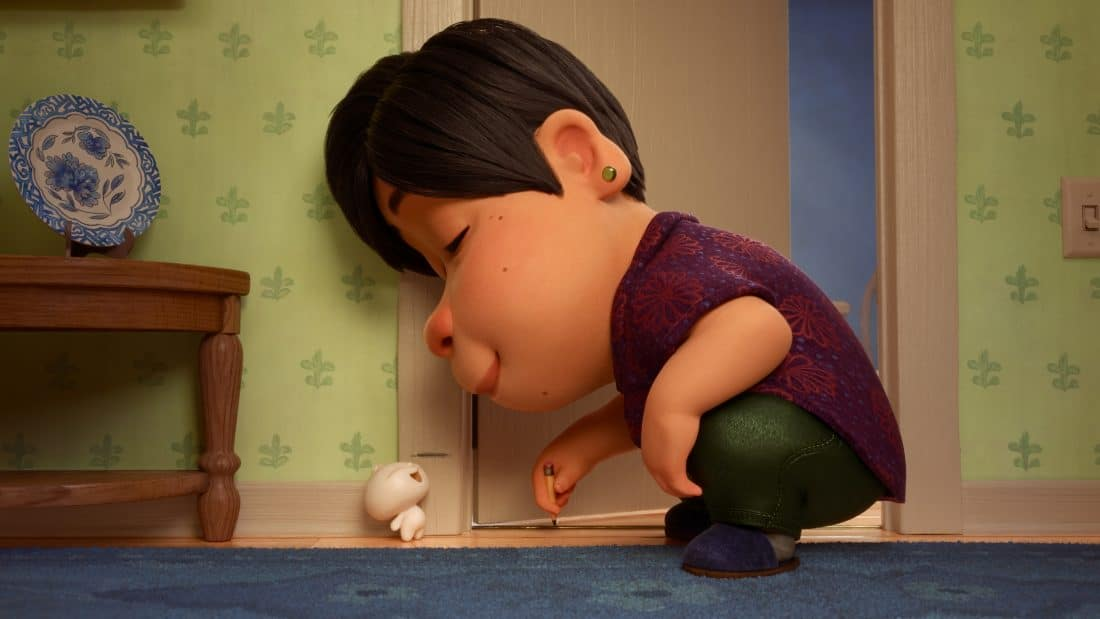 """When an aging Chinese mom whose son has left the nest discovers that one of her dumplings has sprung to life as a little dumpling boy, she welcomes him with open arms. But even dumpling boys grow up fast. Director Domee Shi explores the ups and downs of the parent-child relationship in Disney•Pixar's new short """"Bao,""""."""