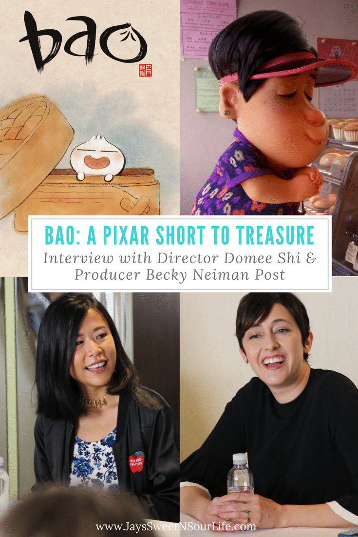 Bao: A Pixar Short To Treasure | Interview with Director Domee Shi & Producer Becky Neiman Post. Indepth interview with the director and producer during the #Incredibles2Event in LA. Learn how this story was born as well as what the director and producer thought about the process and outcome of their hard work.