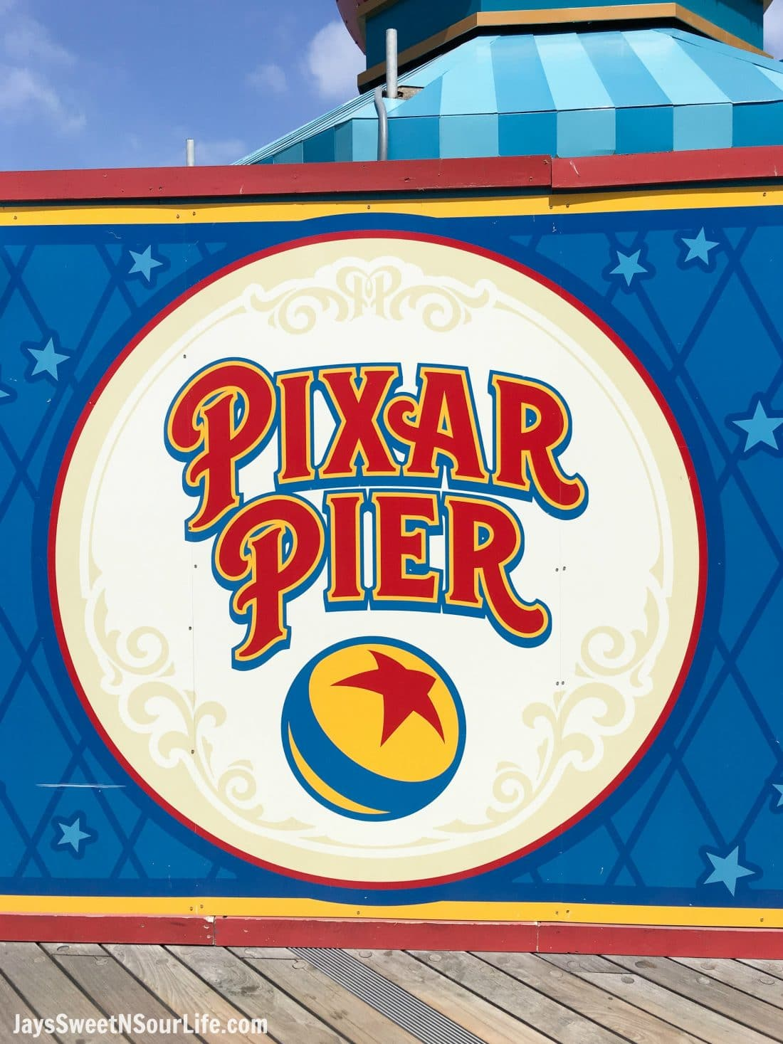 Pixar Pier at Disneyland. Pixar Fest at Disneyland runs from April 13 through September 3rd.
