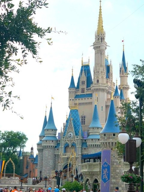 Disney World Castle Orlando Flordia. The Best Meals Under Twenty Dollars in Walt Disney World - via JaysSweetNSourLife.com.
