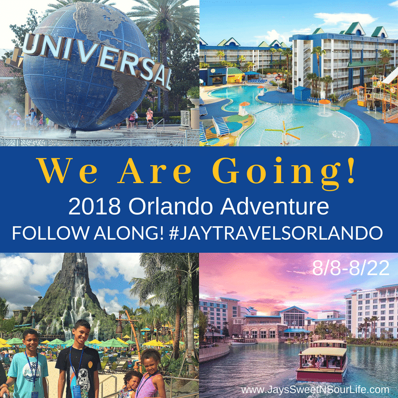 2018 Orlando Adventure Button for Jay's Sweet N Sour Life.