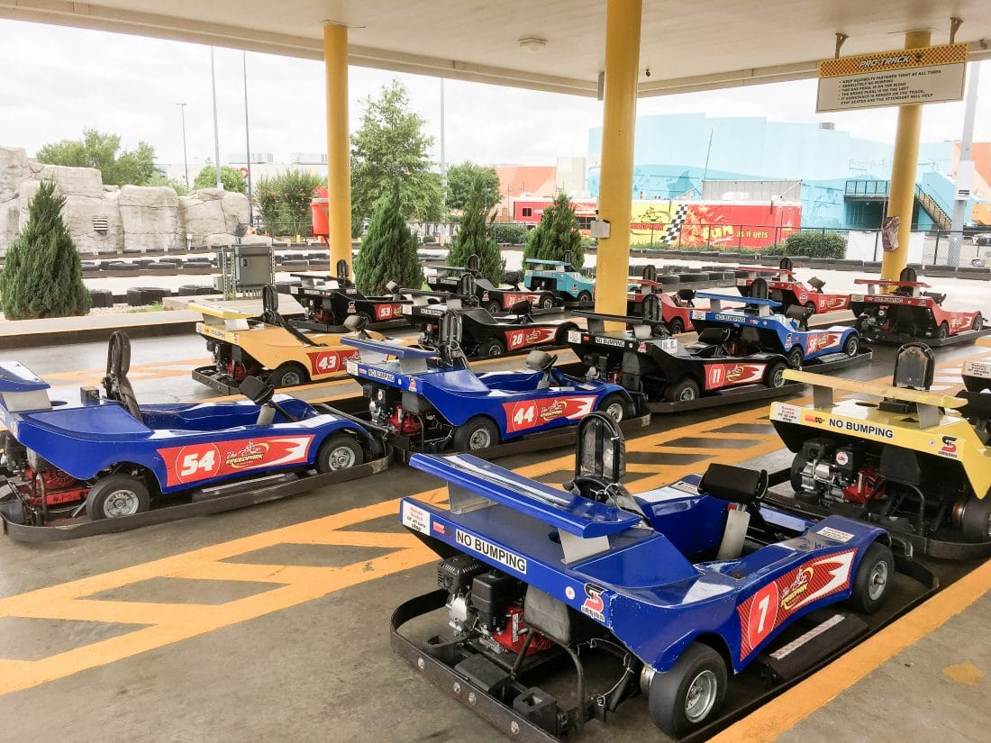 See how my family is Racing Into A Good Time at The Speedpark in Concord Mills. The Speedpark in Concord, North Carolina offers Go-Kart racing for kids and adults, along with bungee jumping and more!