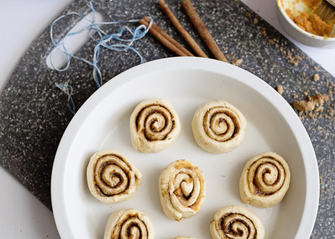 Pumpkin Spice Cinnamon Rolls Step 10. Fill your home with the delicious smell of these easy to make Pumpkin Spice Cinnamon Rolls.