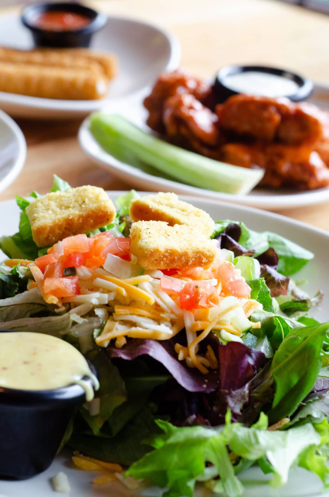 Garden Salad from local Applebee's, part of Three-Course Meal. Take advantage of the Applebee's Delicious New Three-Course Meal's Starting at $12.