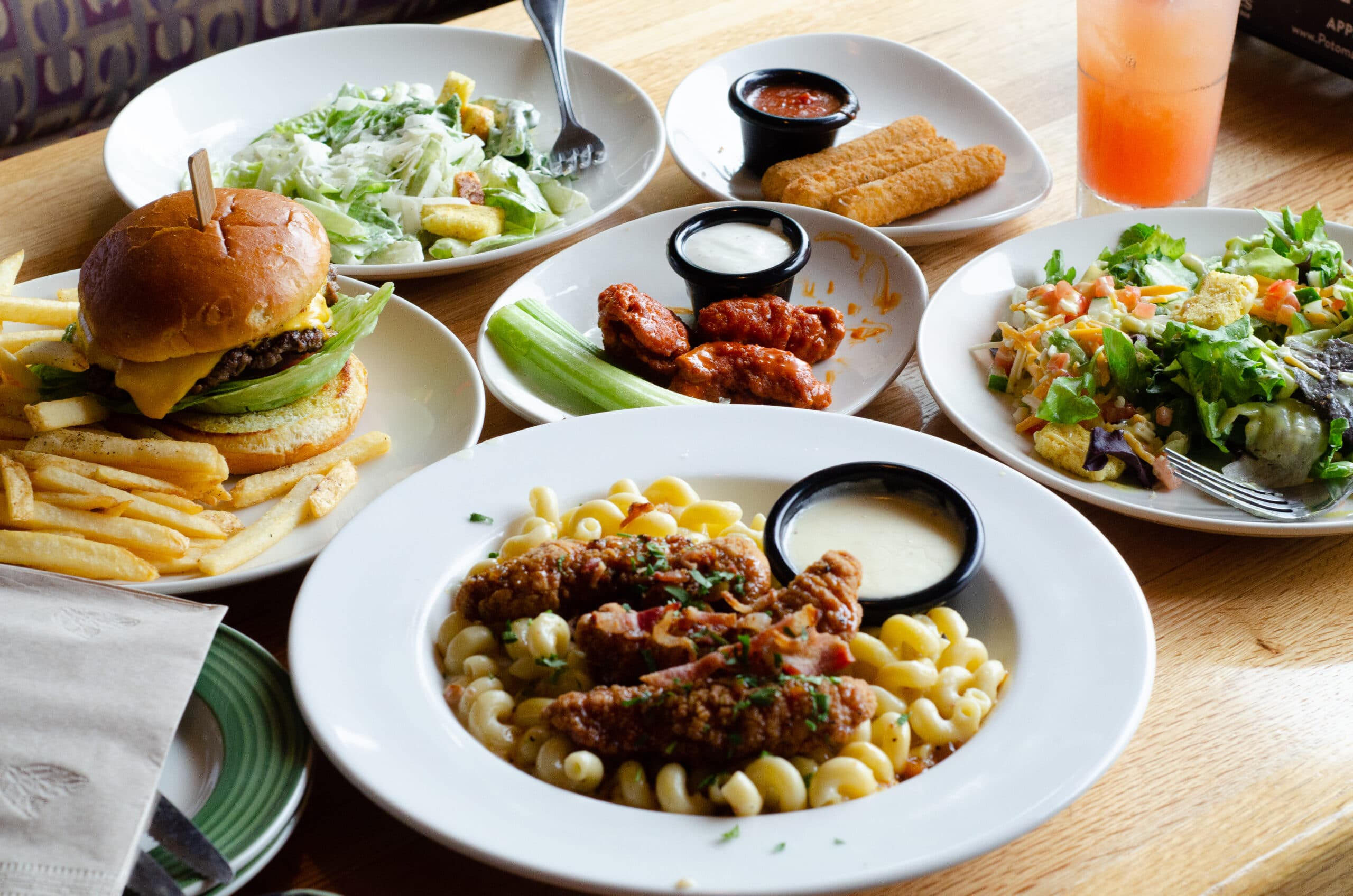 Table of food chosen from the Applebee's Three-Course Meal promotion. Take advantage of the Applebee's Delicious New Three-Course Meal's Starting at $12.