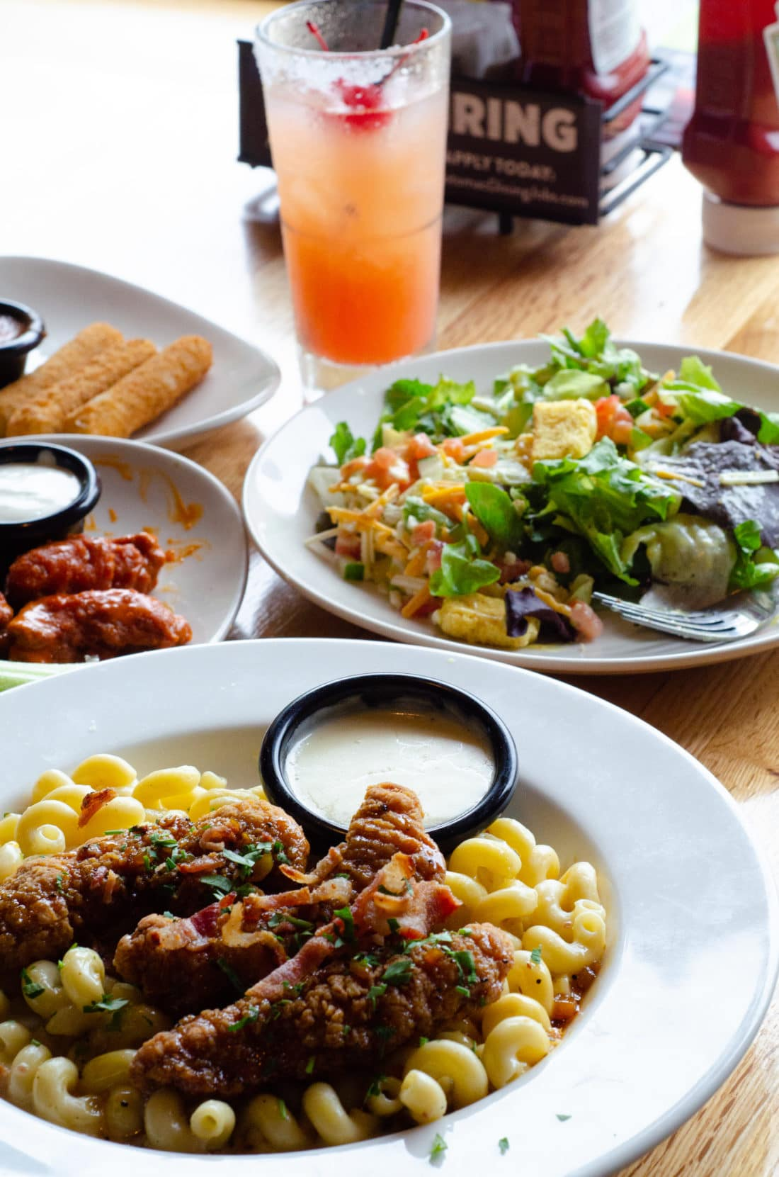 Closeup of selected food from Applebee's Three Course Meal promotion. Take advantage of the Applebee's Delicious New Three-Course Meal's Starting at $12.