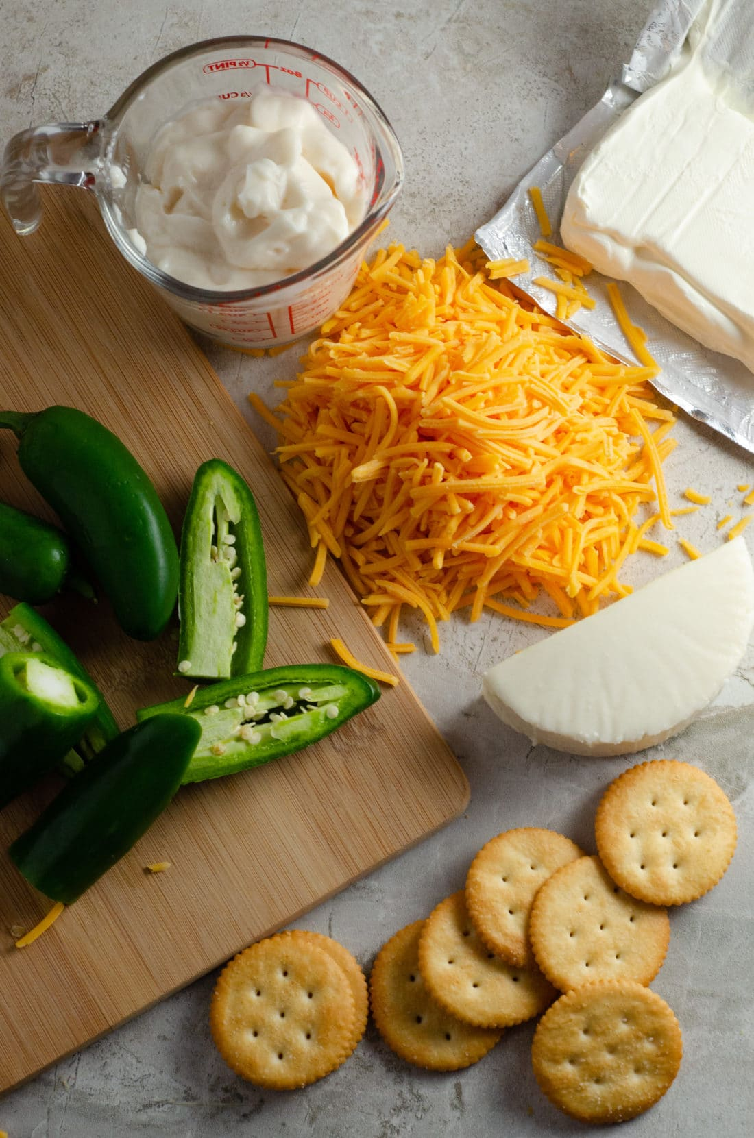 Jalapeño Popper Dip Ingredients. Elevate your holiday entertaining with some wholesome, flavorful California cheeses in this easy to make Jalapeño Popper Dip.