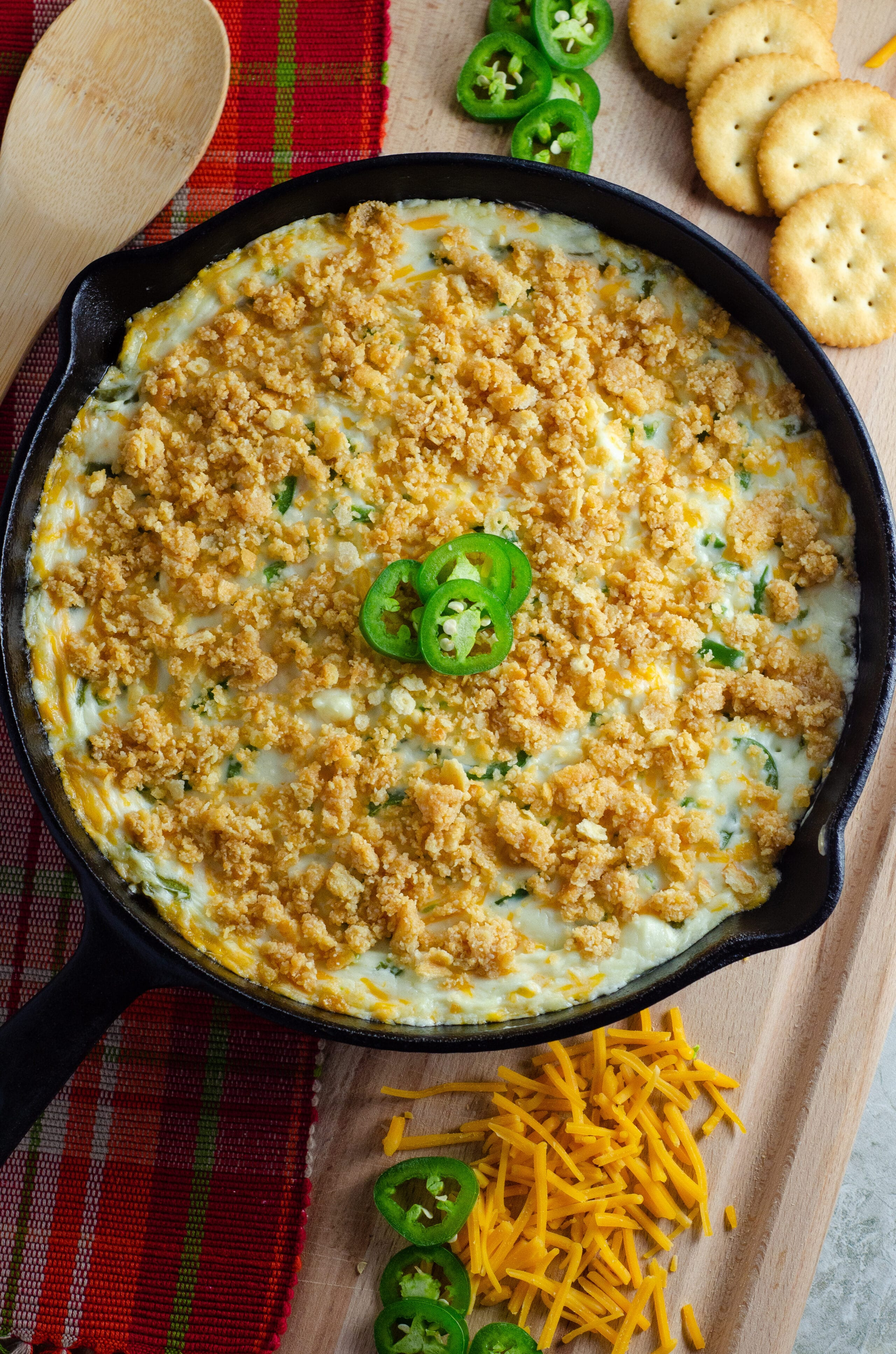 Jalapeño Popper Dip. Elevate your holiday entertaining with some wholesome, flavorful California cheeses in this easy to make Jalapeño Popper Dip.