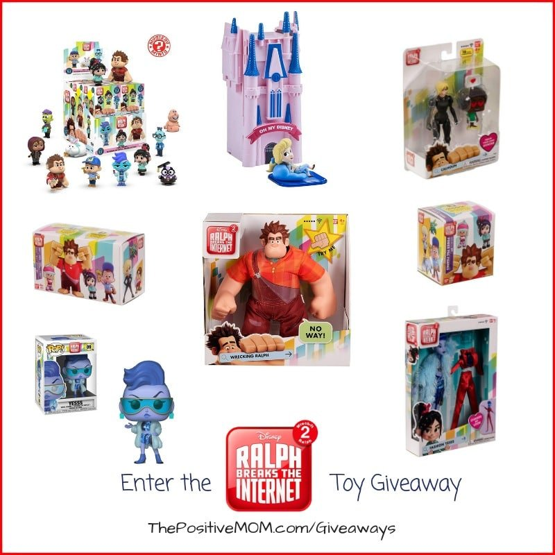 Enter to win in our Ralph Breaks The Internet Prize Pack Giveaway. There are so many prizes to win, with a combined value of over $130! Giveaway Ends November 24, 2018.