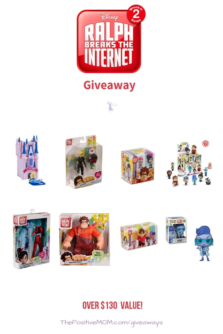 Enter to win in our amazing Ralph Breaks The Internet Prize Pack Giveaway! There are so many prizes to win, with a combination value of over $130! Giveaway Ends November 24, 2018.