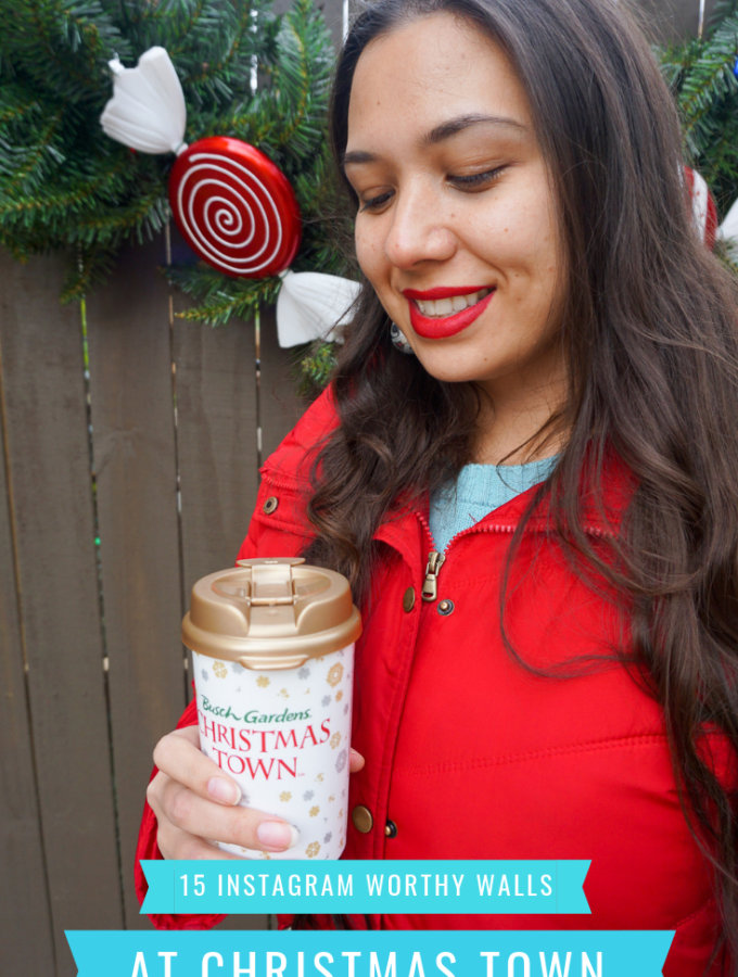 15 Instagram Worthy Walls at Busch Gardens Christmastown. Read all about the locations and idea's for 2018 Christmas Town on the blog today.