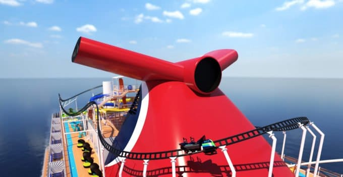 First Ever Roller Coaster At Sea with Carnival Cruise Line – Mardi Gras in 2020