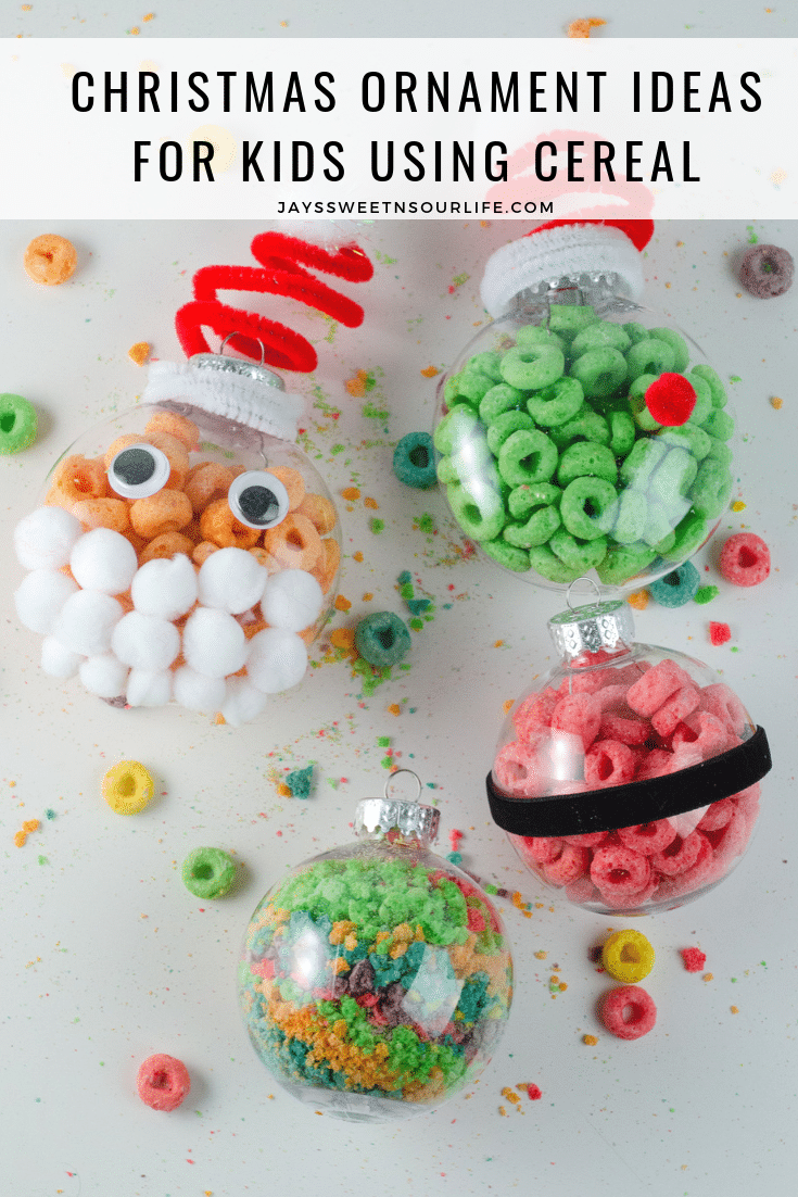 Christmas Ornament Ideas For Kids Using Cereal. It's time to let the kids be the boss for this new kid-friendly Christmas DIY. Rethink Cereal with somr my Christmas Ornament Ideas for Kids Using Cereal.