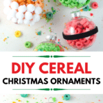 DIY Cereal Christmas Ornaments. Christmas Ornament Ideas For Kids Using Cereal. It's time to let the kids be the boss for this new kid-friendlyChristmas DIY. Rethink Cereal with some of my Christmas Ornament Ideas for Kids Using Cereal.