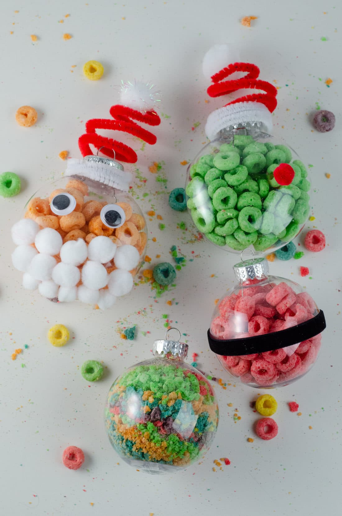 Christmas Ornament Ideas for Kids Using Cereal Together. It's time to let the kids be the boss for this new kid-friendlyChristmas DIY. Rethink Cereal with somr my Christmas Ornament Ideas for Kids Using Cereal.