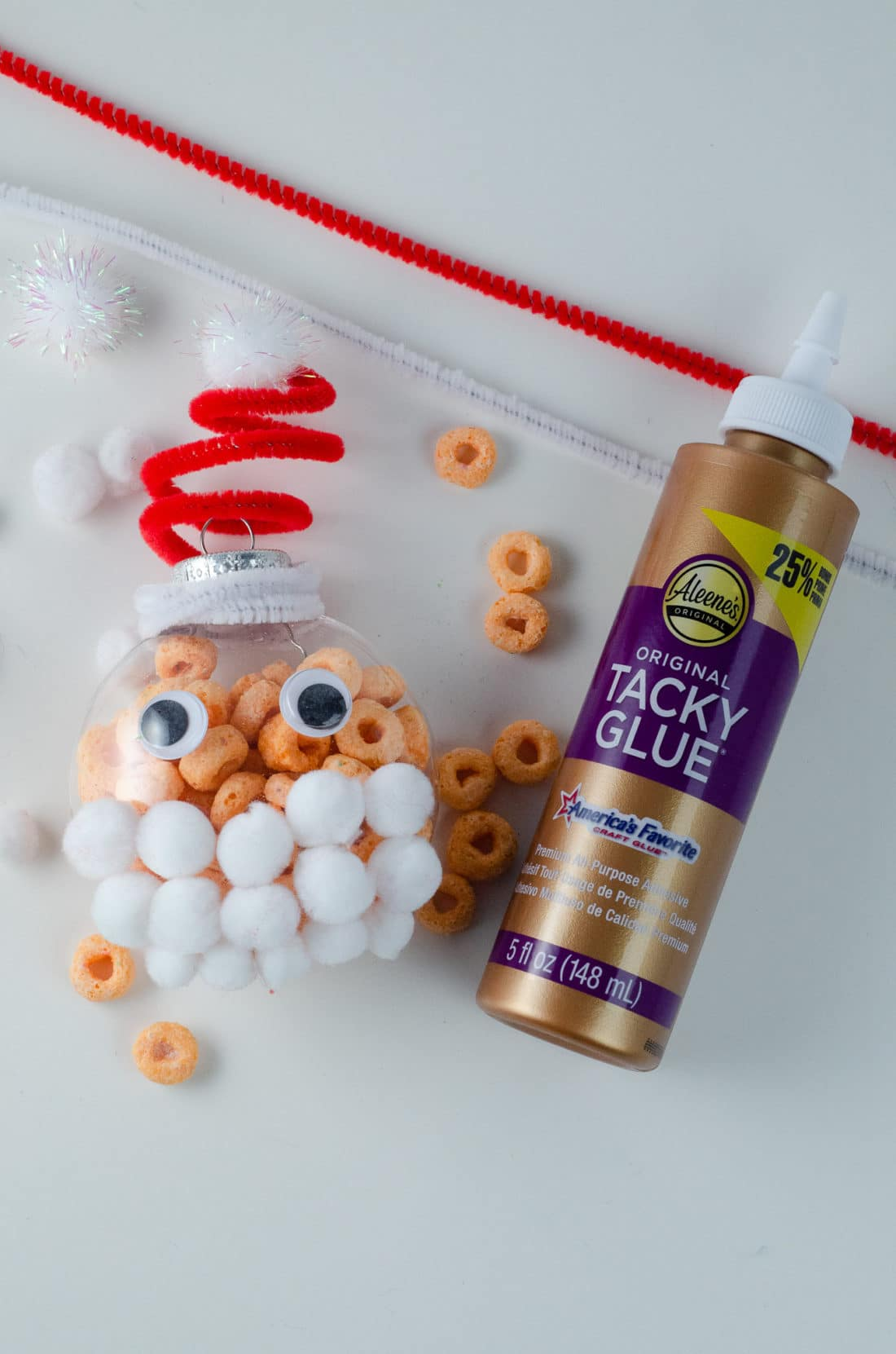 Christmas Ornament Ideas for Kids Using Cereal Santa Supplies. It's time to let the kids be the boss for this new kid-friendlyChristmas DIY. Rethink Cereal with somr my Christmas Ornament Ideas for Kids Using Cereal.