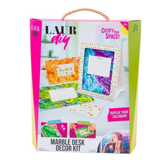 Now you can bring the LaurDIY style home with DIY kits like this Marble Desk Decor Kit!