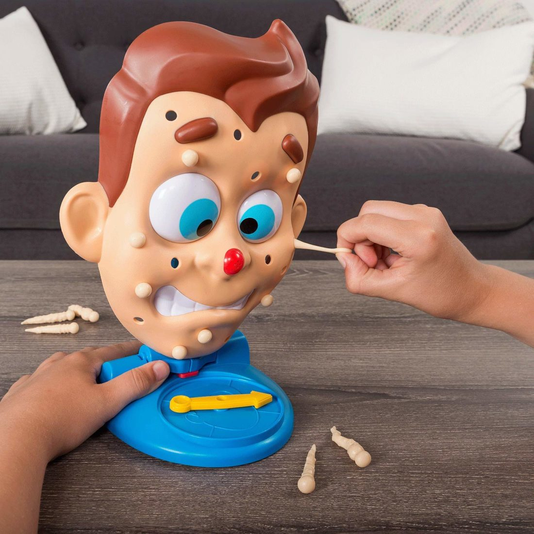 Ready for a little gross-out fun on family game night? Pimple Pete is a hilarious, easy-to-play game for kids aged 5 and up. Read about all the toys on my Holiday Gift Ideas For Kids Guide.