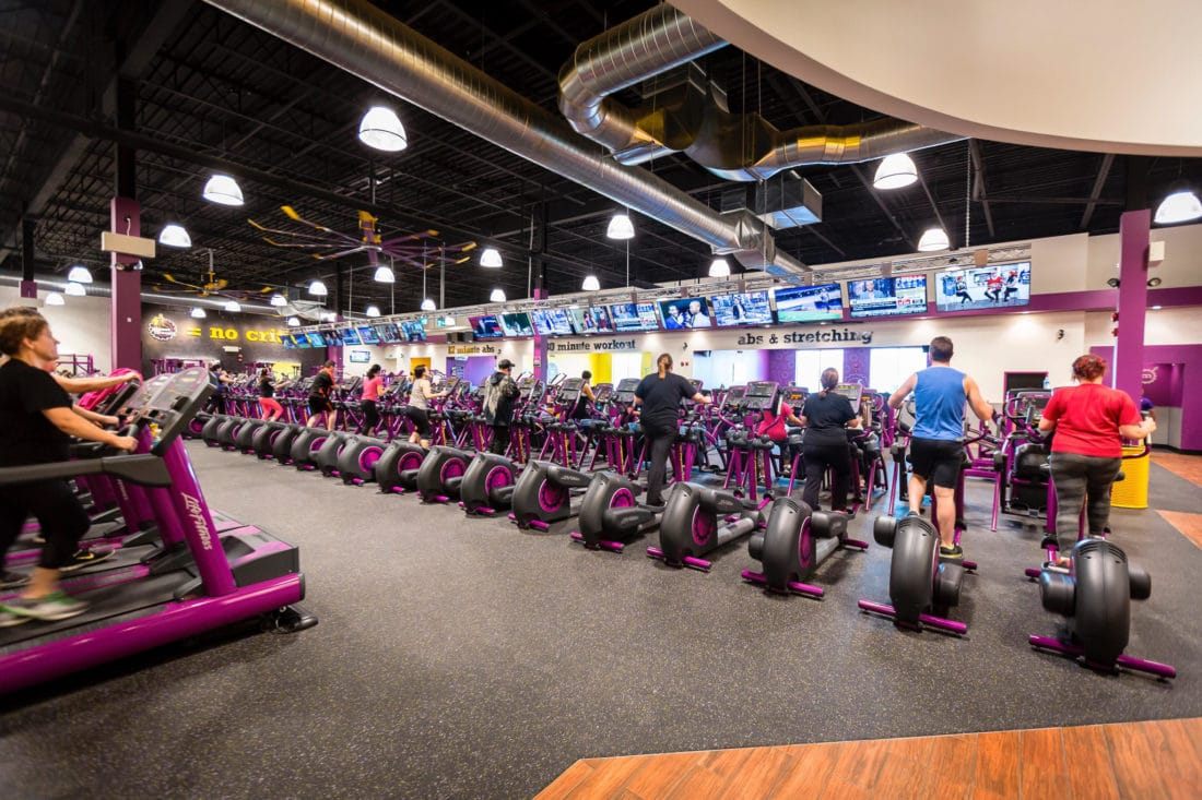"""Planet Fitness Inside. Planet Fitness Judgement Free Zones for the """"everyday people"""". Take advantage of their new membership sale with this $1 down and $10 a month offer."""