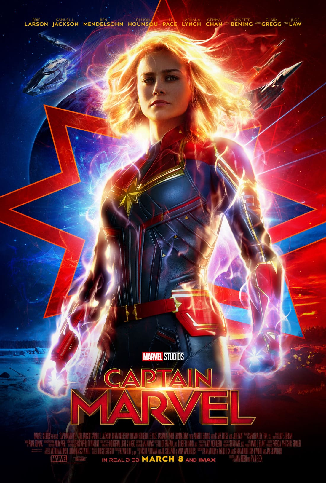 Marvel Studios Captain Marvel Movie Poster. Set in the 1990s, Marvel Studios'CAPTAIN MARVELis an all-new adventure from a previously unseen period in the history of the Marvel Cinematic Universe that follows the journey of Carol Danvers as she becomes one of the universe's most powerful heroes.