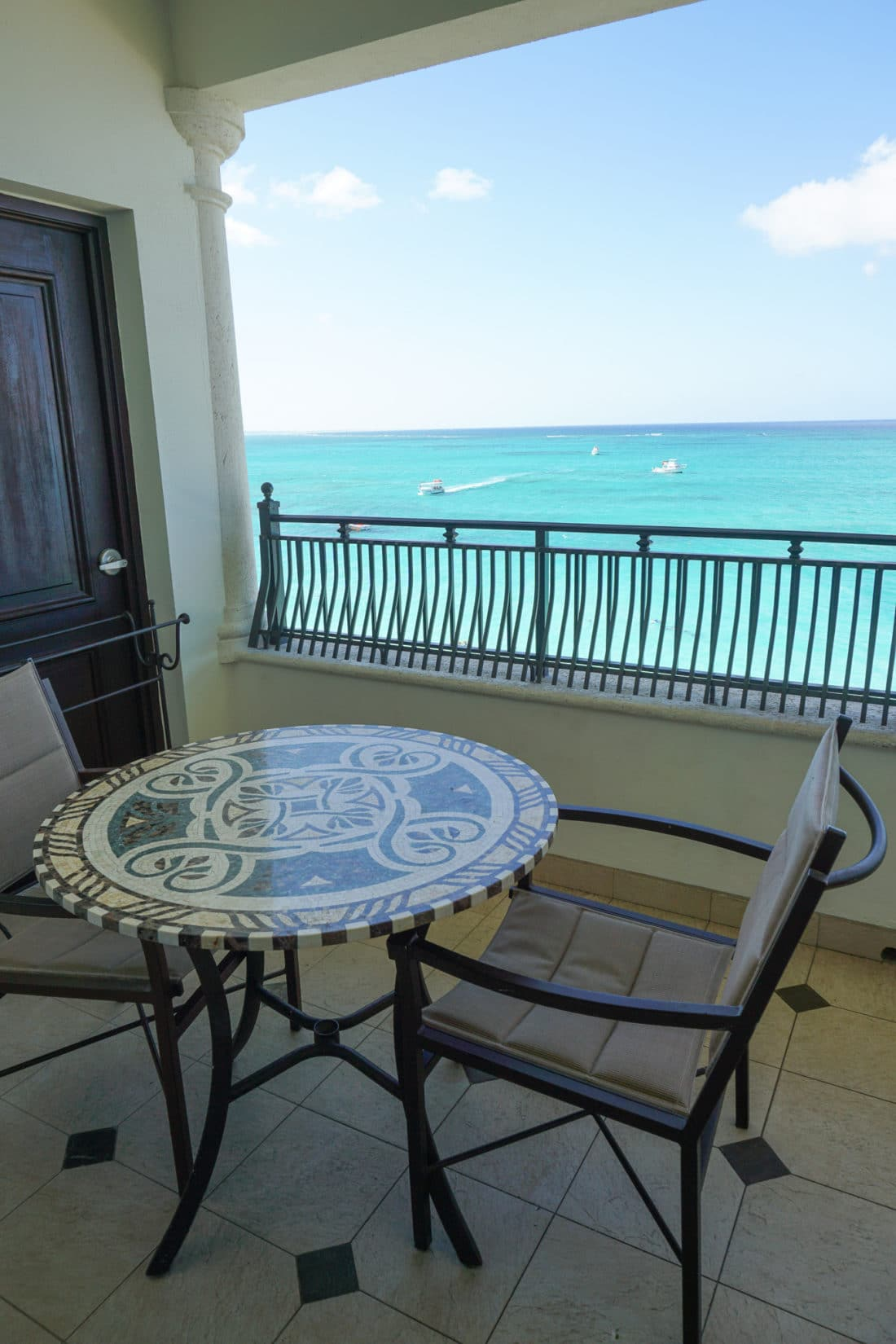 Oceanfront Family Suite Beaches Resorts in Turks and Caicos Balcony Table. Paradise does exist, and it's only a plane ride away. Take a look inside our suite in this Oceanfront Family Suite Room Tour at Beaches Resorts in Turks and Caicos.