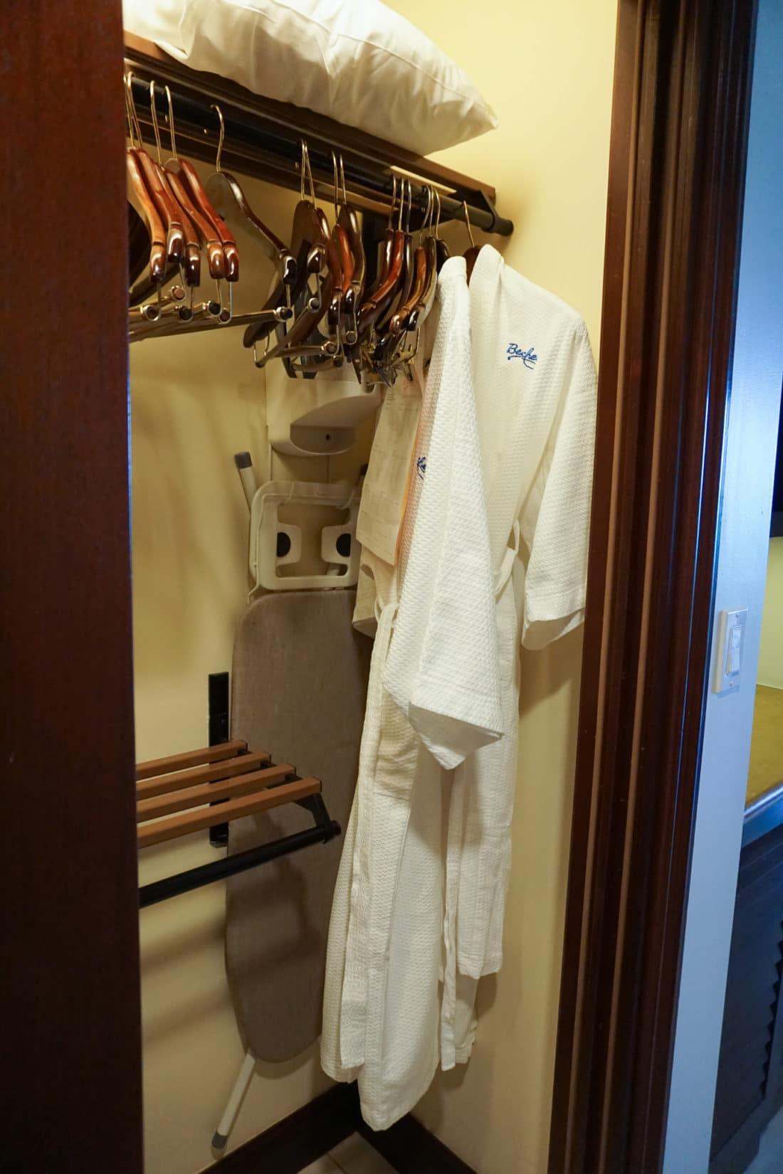 Oceanfront Family Suite Beaches Resorts in Turks and Caicos Closet with Safe Robes. Paradise does exist, and it's only a plane ride away. Take a look inside our suite in this Oceanfront Family Suite Room Tour at Beaches Resorts in Turks and Caicos.