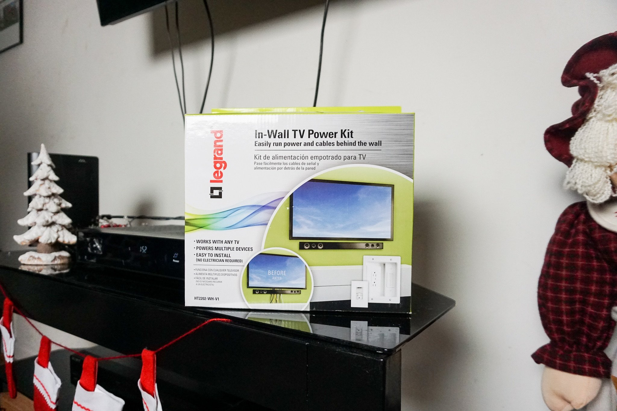 Legrand - In-Wall TV Power Kit On TV Stand. Hide those ugly TV Cables with the Legrand - In-Wall TV Power Kit, read the full review..