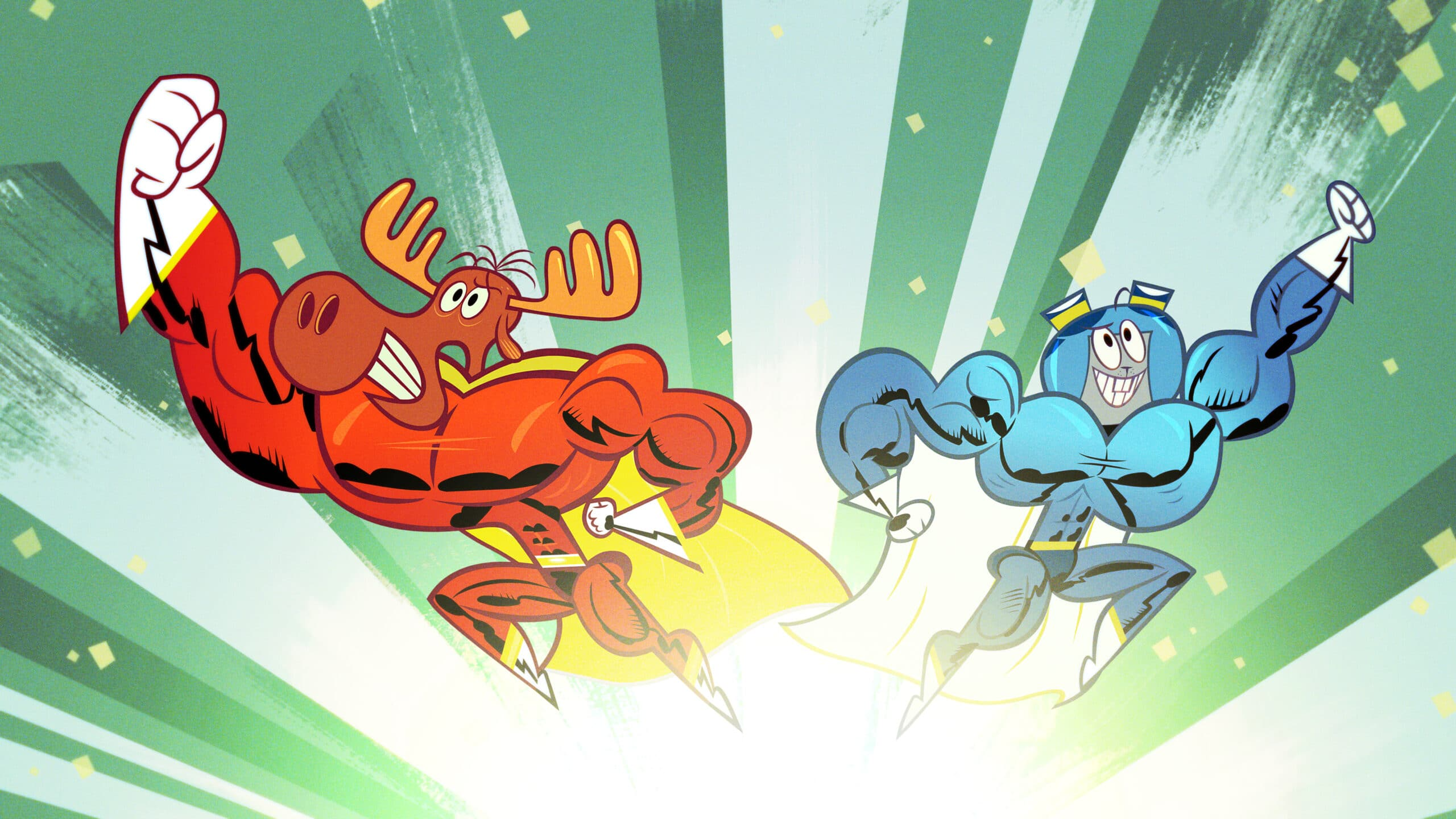 The Adventures of Rocky and Bullwinkle season two Super Buff. DreamWorks The Adventures of Rocky and Bullwinkle season two is now available on Amazon Prime Video. Your favorite squirrel and moose are back for more daring escapades and we have two fun clips to share with you!