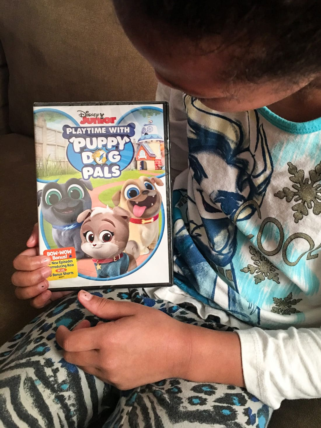 DIsney Junior Playtime With Puppy Dog Plays DVD Esuun Holding.. Adorable puppy brothers Bingo and Rolly are back! Join the doggy duo on amazing missions in their newest Playtime with Puppy Dog Pals DVD.