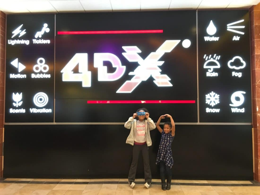 Regal CInema 4dx sign. Read about why everything is awesome with the new Regal Cinema 4DX Expierence for The LEGO Movie 2: The 2nd Part. Full review with photos.