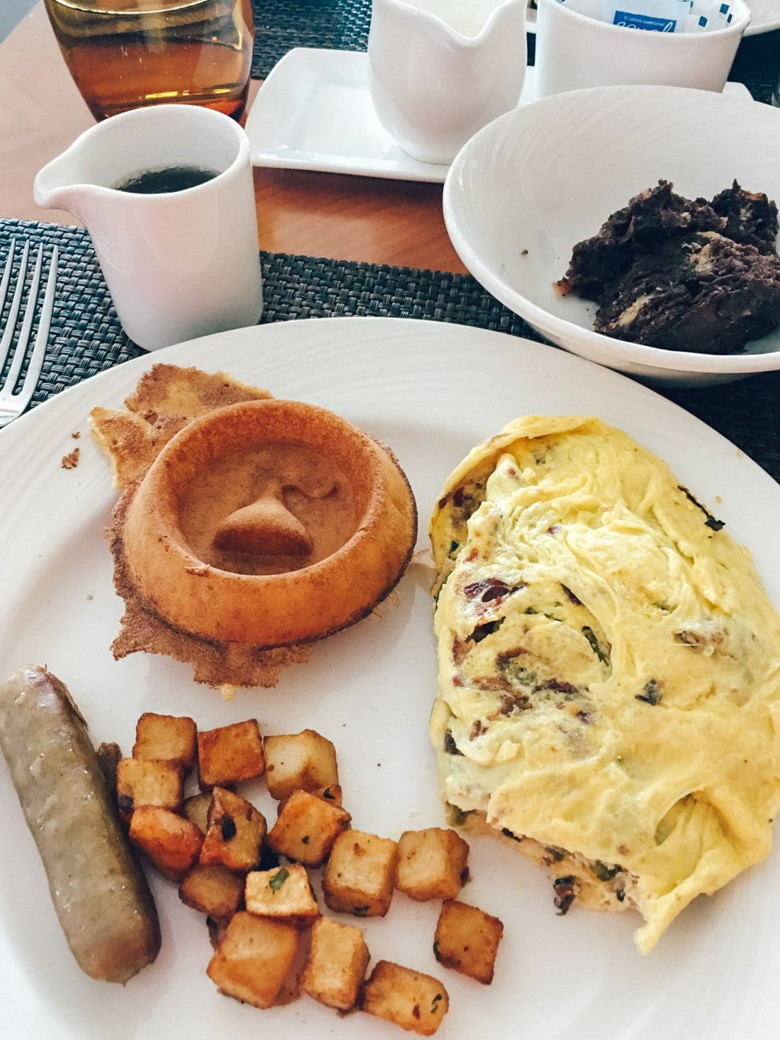 The Circular Breakfast Buffet Plate.This exquisite hotel is the original Hershey Hotel that Milton M. Hershey envisioned his self. Through the years the hotel has grown and offered many new amenities for it's guests to enjoy.