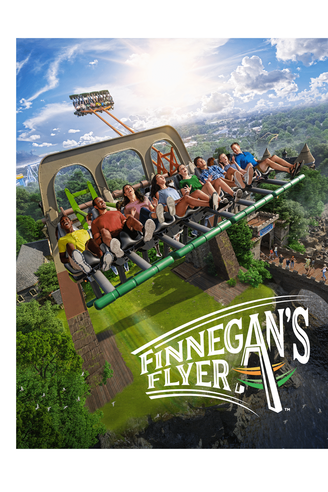 The Newest ride Finnegan Flyers at Busch Gardens Williamsburg is set to debut May 2019.