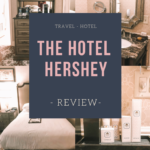 The Hotel Hershey Review. This exquisite hotel is the original Hershey Hotel that Milton M. Hershey (creator of the Hershey Brand) envisioned himself. Learn more about to expect when you stay at The Hotel Hershey as well as perks only guests can take advantage of.