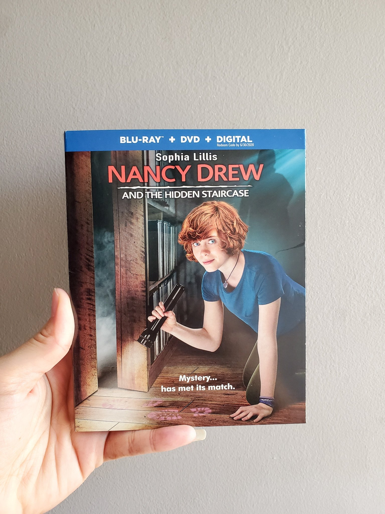 Nancy Drew And The Hidden Staircase DVD. Nancy Drew And The Hidden Staircase film is heading home on Digital March 26, 2019 and on Blu-ray™ Combo Pack & DVD on April 2, 2019! If you haven't heard about the newest film in the Nancy Drew series then look no further. Check out all of the info below on what to expect with this family-friendly film.