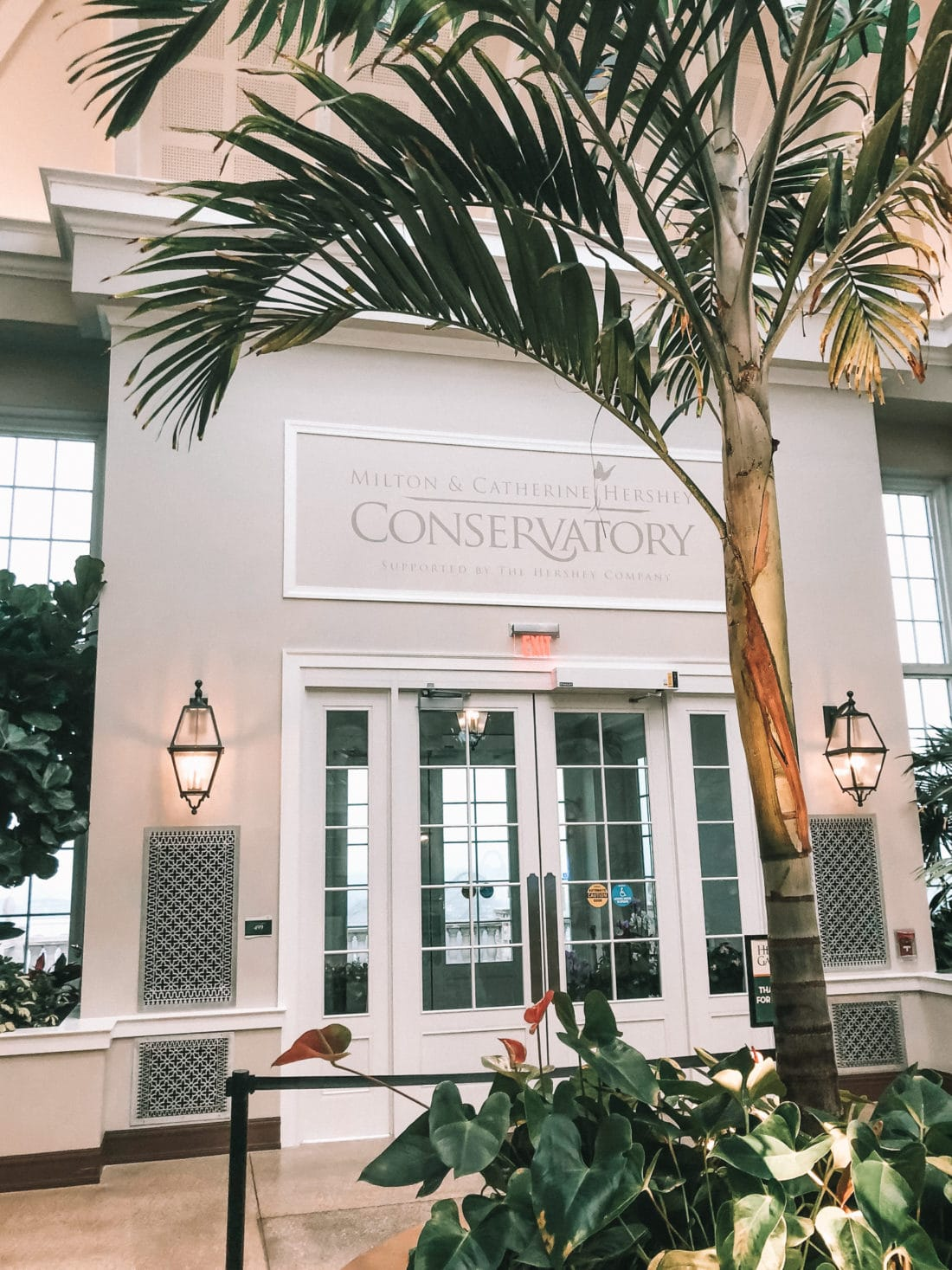The Hershey Conservatory Entrance. Visit the Hershey Gardens to see real life butterflies! Play with butterflies and take amazing photos.